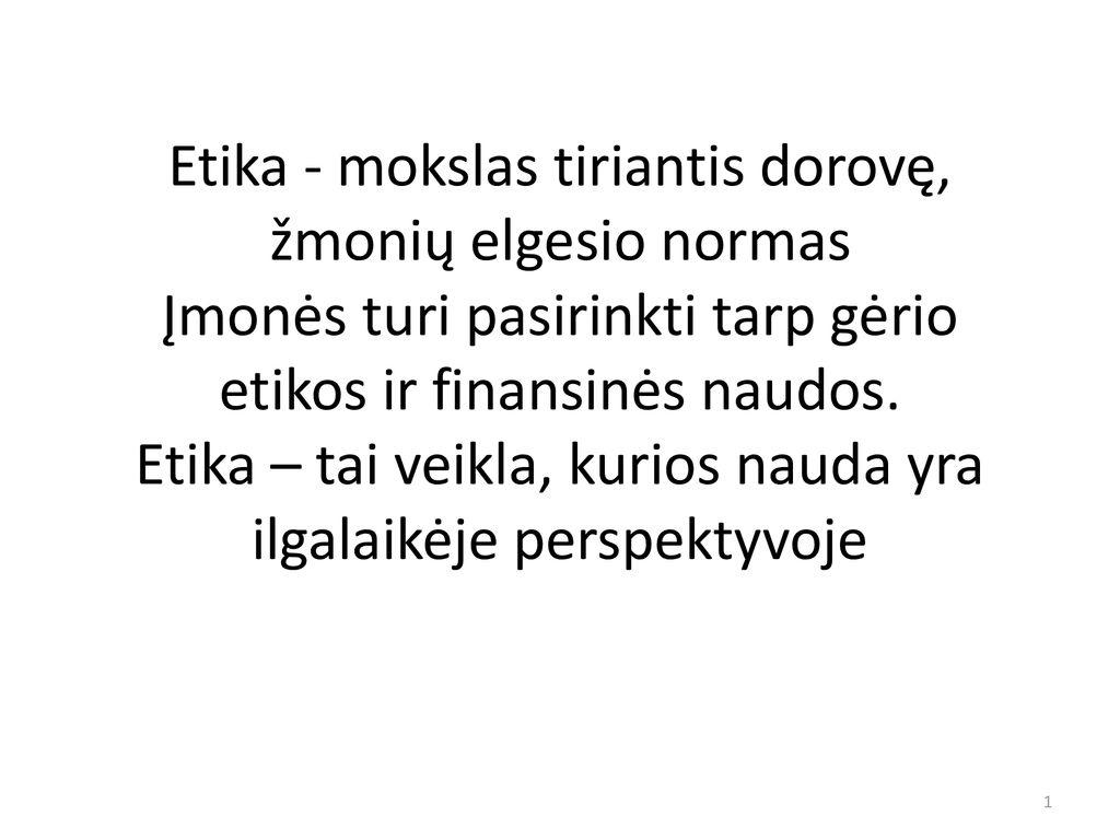 akcijų pasirinkimo etika)