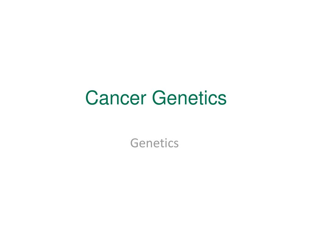 Cancer genetic ppt, Medicul de dimineata- despre cancer la san helmintox mode demploi