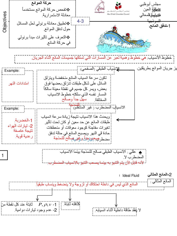 حركة الموائع مجلس أبوظبي للتعليم Ppt Download