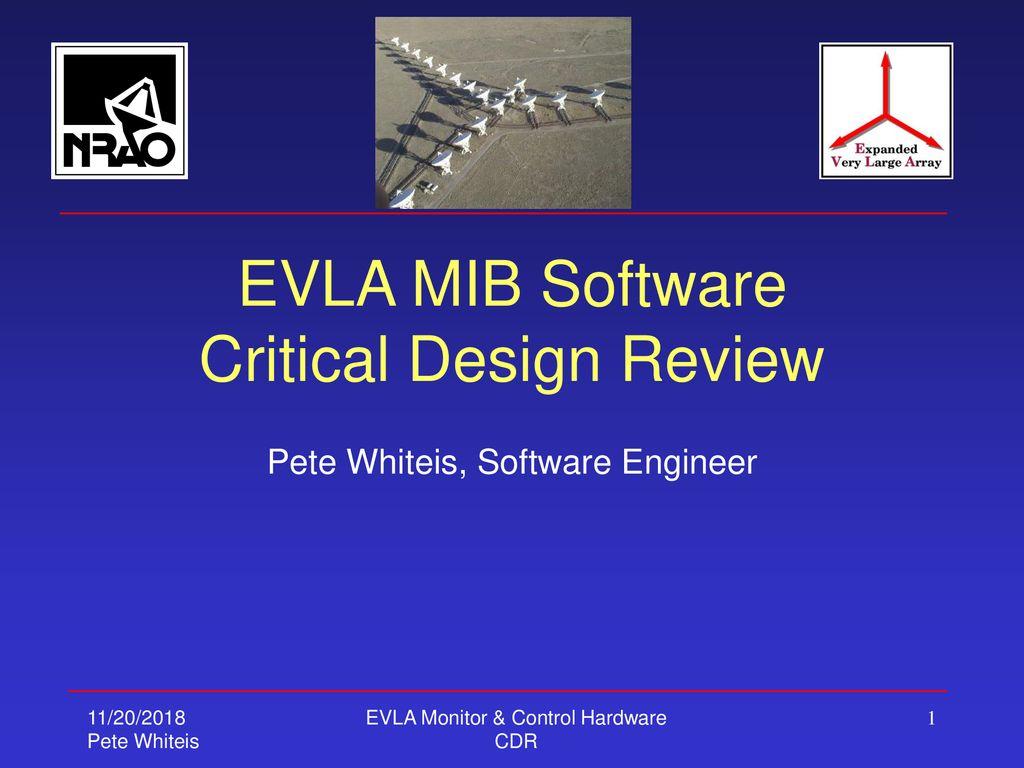 Evla Mib Software Critical Design Review Ppt Download