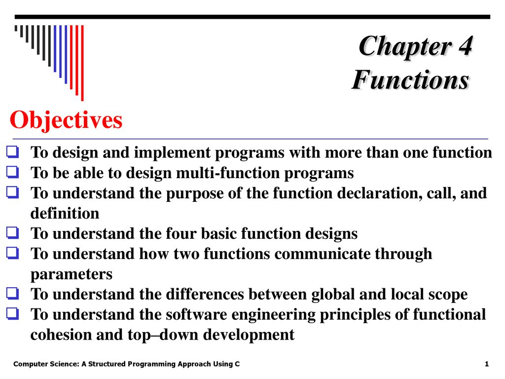 Chapter 4 Functions Objectives Ppt Download