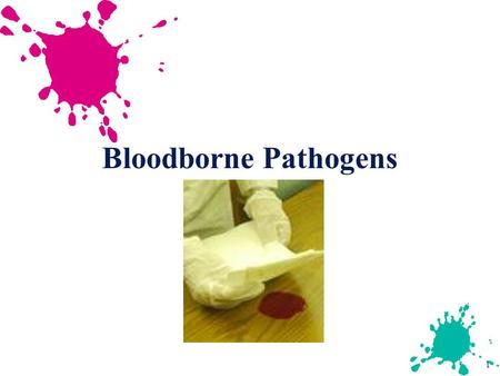 1 Bloodborne Pathogens. 2 Bloodborne Diseases u HIV: Human Immunodeficiency Virus causes AIDS - no cure or vaccination u HBV: Hepatitis B virus causes.