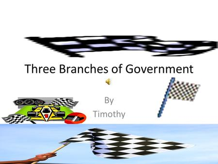 Three Branches of Government By Timothy Executive Branch The Executive Branch is run by the President and the Vice President. The Executive Branch is.