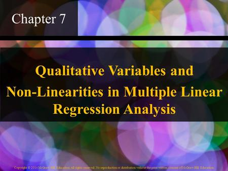 Qualitative Variables and