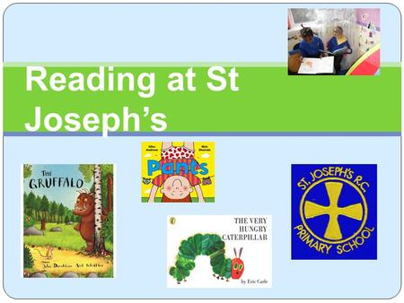 Reading at St Joseph's. Aims of today To explain how we teach reading. To introduce Read, Write, Inc. Sample 'Speed sound' session. To share some practical.