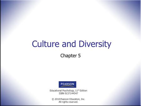 Culture and Diversity Chapter 5.