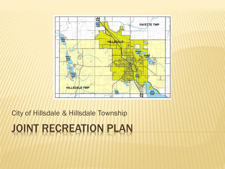 City of Hillsdale & Hillsdale Township.  Location  Socioeconomic Summary  Population History & Projections  Age & Sex of the Population  Household.