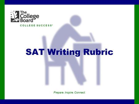 C O L L E G E S U C C E S S ™ SAT Writing Rubric Prepare. Inspire. Connect.