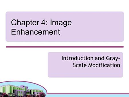 Chapter 4: Image Enhancement