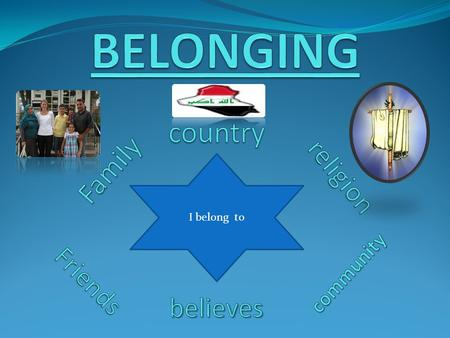 BELONGING country Family religion believes Friends community