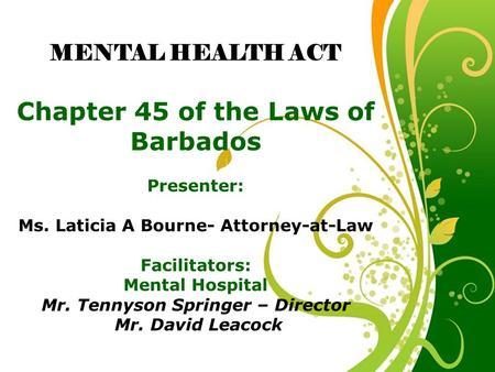 Chapter 45 of the Laws of Barbados