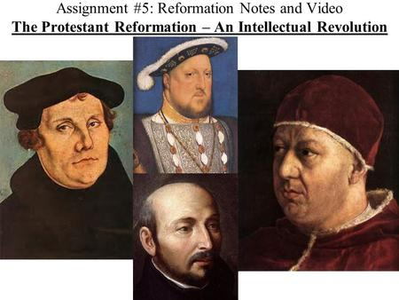 Background Causes of the Protestant Reformation