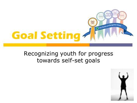 Goal Setting Recognizing youth for progress towards self-set goals.