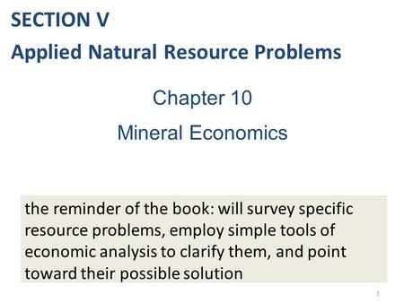 Applied Natural Resource Problems