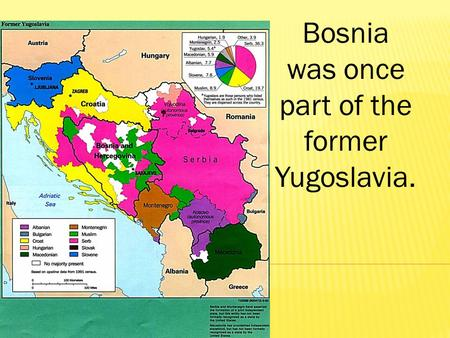 Bosnia was once part of the former Yugoslavia.. During the Cold War, Yugoslavia was ruled by the communist dictator, Tito.