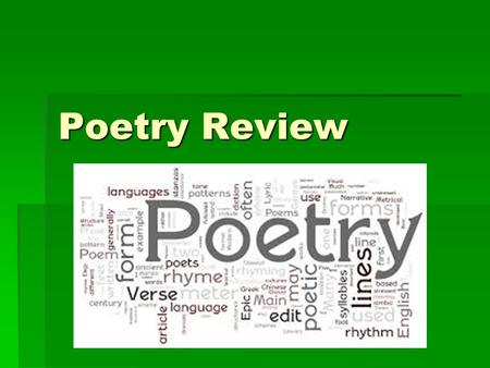 Poetry Review.