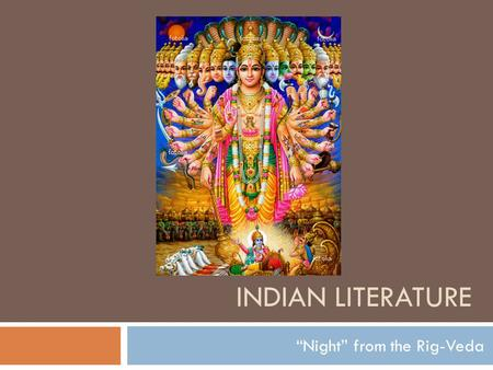 """Night"" from the Rig-Veda"
