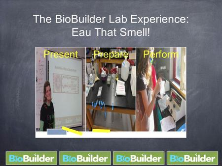 The BioBuilder Lab Experience: Eau That Smell! PresentPreparePerform.