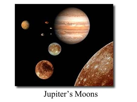 Jupiter's Moons. Jupiter has at least 61 moons. Most are very small. The first 4 moons of Jupiter were discovered by Galileo and are thus called the Galilean.