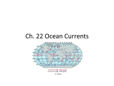 Ch. 22 Ocean Currents.