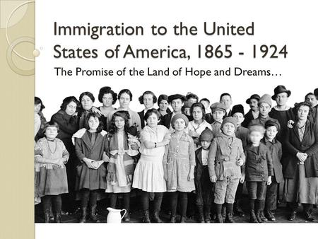 history of immigration to the united This invaluable resource investigates us immigration and policy, making links the ethnic and religious affiliations of immigrants to the united states to trends in immigration, both legal and unauthorized.