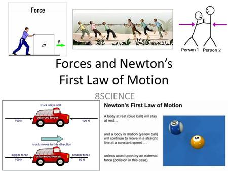 newton s first law an object at rest and an object in