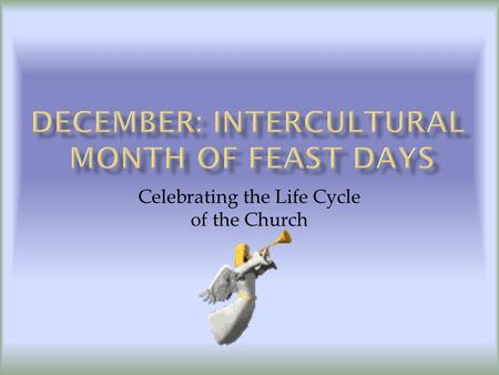 Celebrating the Life Cycle of the Church.  The Four Weeks Before Christmas  A Time of Remembrance, God's people are waiting for the Messiah's Birth.