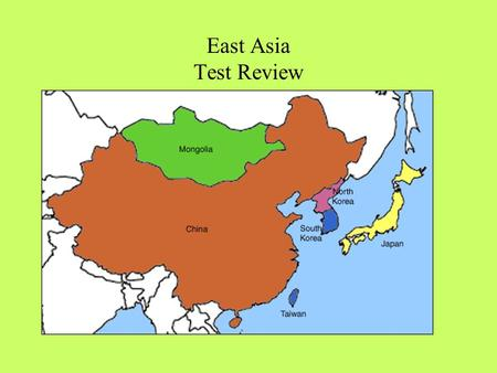 East Asia Test Review. How did the Silk Road affect East Asia? Cultural Diffusion.