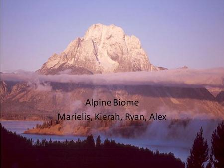 Alpine Biome Marielis, Kierah, Ryan, Alex. Table of Contents Map of the Alpine Physical Landscape Plant Life Animal Life Human Influences.