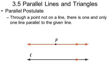 3.5 Parallel Lines and Triangles