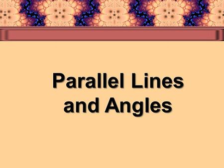 You will learn to describe relationships among lines, parts of lines, and planes. In geometry, two lines in a plane that are always the same distance.