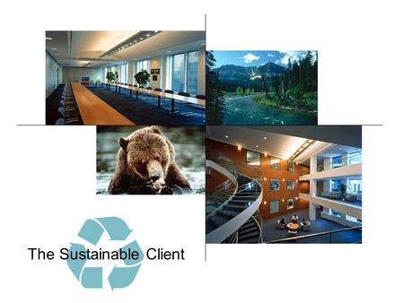 The Sustainable Client. Communication Opportunity Time Sustainable Window.