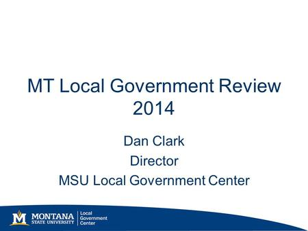 MT Local Government Review 2014
