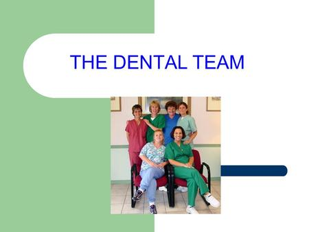 THE DENTAL TEAM. Dental Assistants are extremely important members of the dental healthcare team.