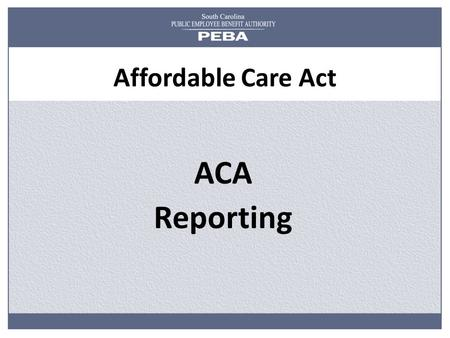 Affordable Care Act ACA Reporting.