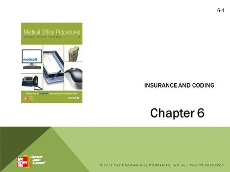 INSURANCE AND CODING Chapter 6 © 2012 THE MCGRAW-HILL COMPANIES, INC. ALL RIGHTS RESERVED 6-1.