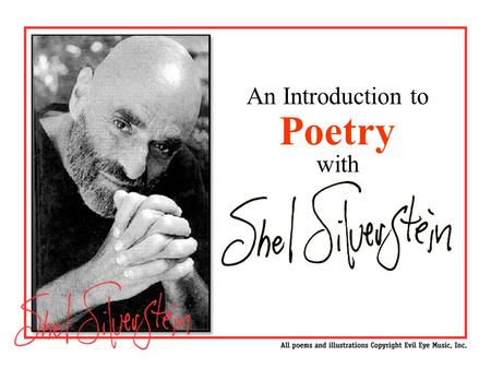 An Introduction to Poetry with Slide 1 - Intro Slide.