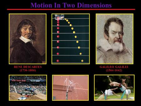 RENE DESCARTES (1736-1806) Motion In Two Dimensions GALILEO GALILEI (1564-1642)