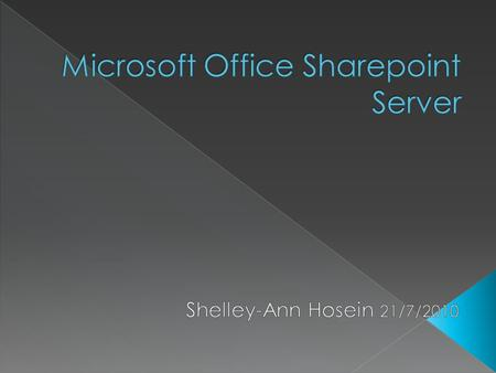  Introductions  What is Sharepoint?  Features of Sharepoint  Features implemented in TCL Group  Awareness of Sharepoint  Moss Champions  Objectives.