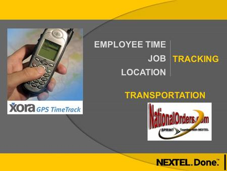 EMPLOYEE TIME JOB LOCATION TRACKING TRANSPORTATION.