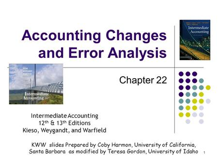 <strong>Accounting</strong> Changes and Error Analysis