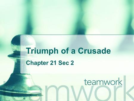 Triumph of a Crusade Chapter 21 Sec 2. I. Riding for Freedom A. Freedom Riders 1. Civil Rights activists led by James Peck drove 2 buses to test the unsegregated.