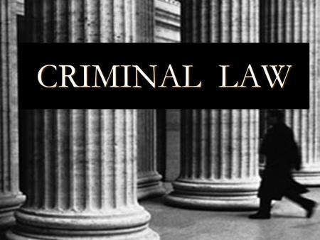 CRIMINAL LAW. Criminal lawmaking is the jurisdiction of the Federal government.