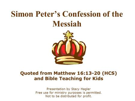 Simon Peter's Confession of the Messiah