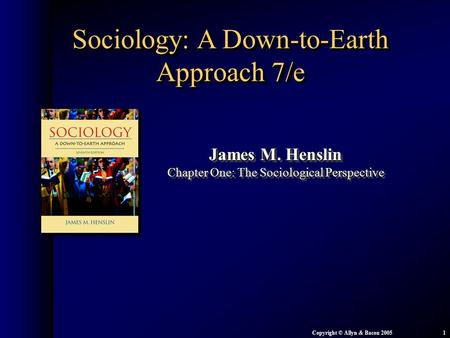 Sociology: A Down-to-Earth Approach 7/e