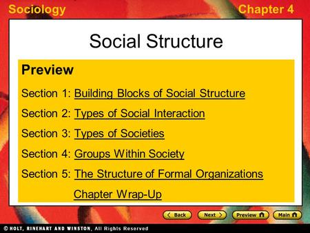 Social Structure Preview