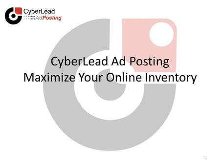 CyberLead Ad Posting Maximize Your Online Inventory 1.