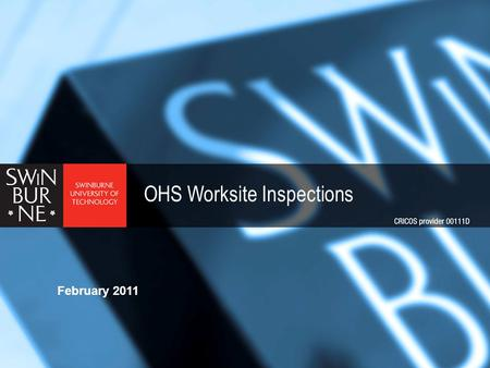 OHS Worksite Inspections February 2011. Health & Safety Systems > The goal of any health & safety system is to eliminate or reduce as far as is practicable.