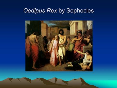 Oedipus Rex by Sophocles Antigone Leads Oedipus out of Thebes by Charles Francois Jalabeat.