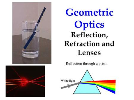 Reflection, Refraction and Lenses